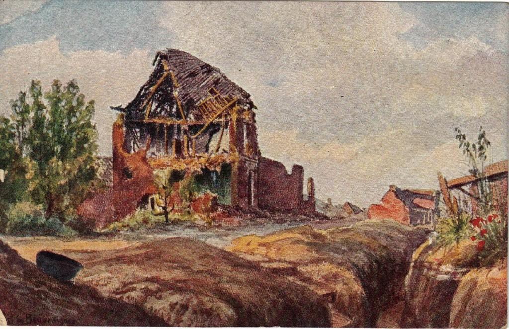1916-06-28 LIR84 Otto Theodor Wagner - Karten von Bruder Willy von der Westfront 1916 II