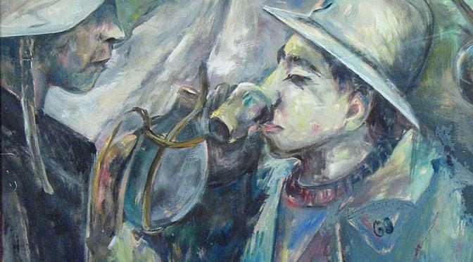 Sønderjysk kunstner maler scener fra Verdenskrigen