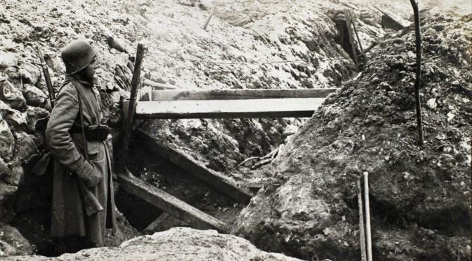 12. februar 1917. Engelsk patrulje på raid i 86'ernes skyttegrav!