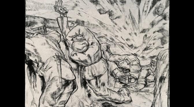 13. juli 1916. Somme: De franske granater rev de begravede op igen til en afsindig dødedans