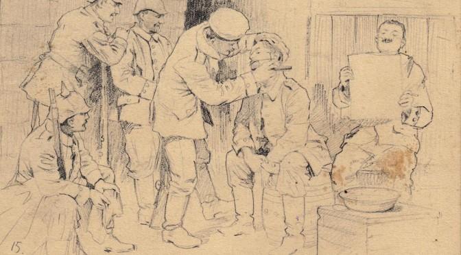 27. november 1916. En rundbarbering til kompagni-bedstefar
