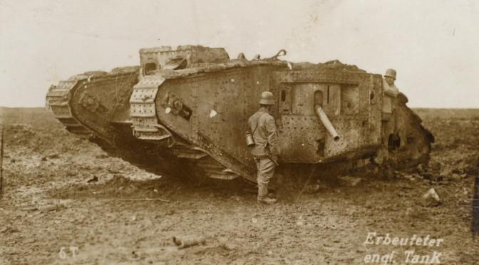 11. september 1918. Frederik Tychsens kanon afværger et angreb med kampvogne