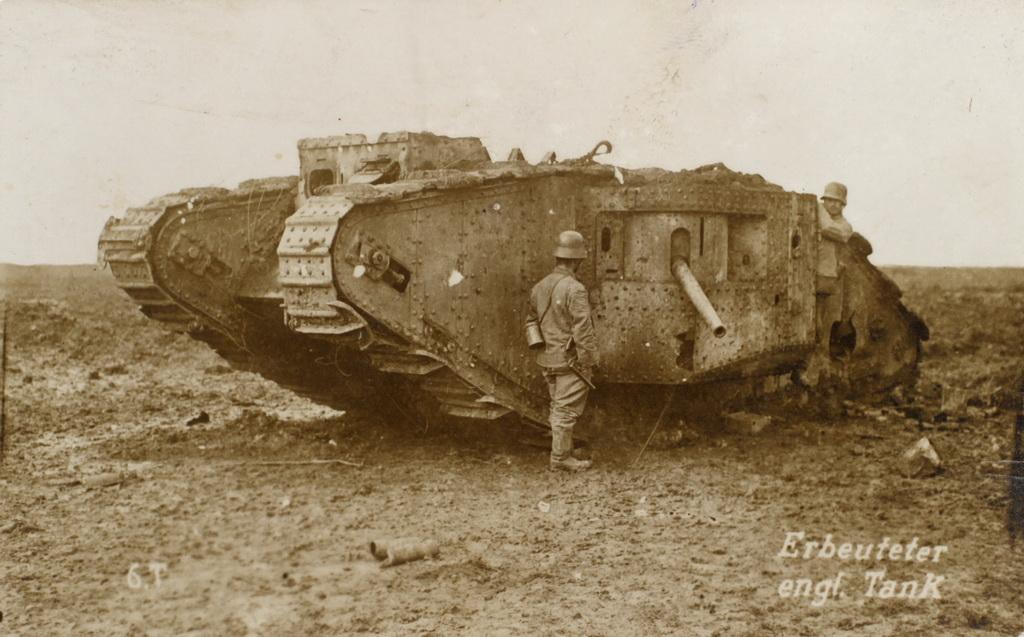 """Erobret engelsk tank"" (Museum Sønderjylland - ISL)"