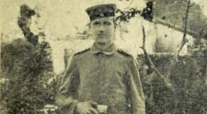 """20. april 1918 – Asmus Andresen: """"Vi hørte Granatstumperne suse gennem Luften, og hele Huset rystede under os"""""""
