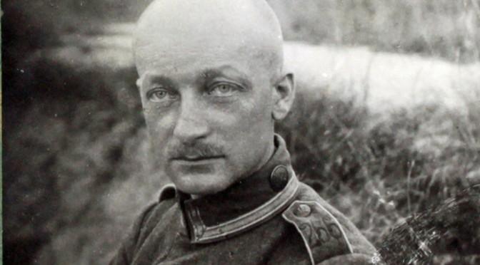 "2. juni 1918. ""Krigen skaaner intet. Krigen skaaner ingen."" Eskildsen på vej til lazaret."