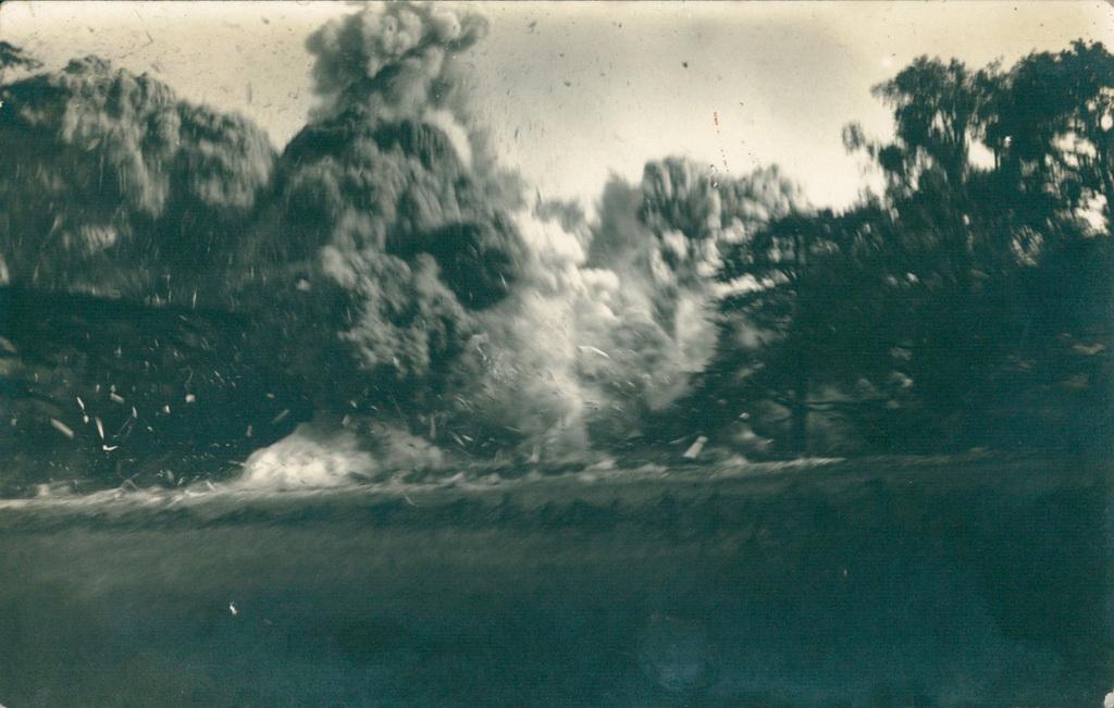 Sprængningen af slottet ved Havrincourt, juni 1917 (Arkivet ved Dansk Centralbibliotek for Sydslesvig)
