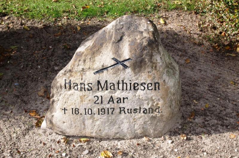 Foto af mindesten, Hellevad Kirkegård
