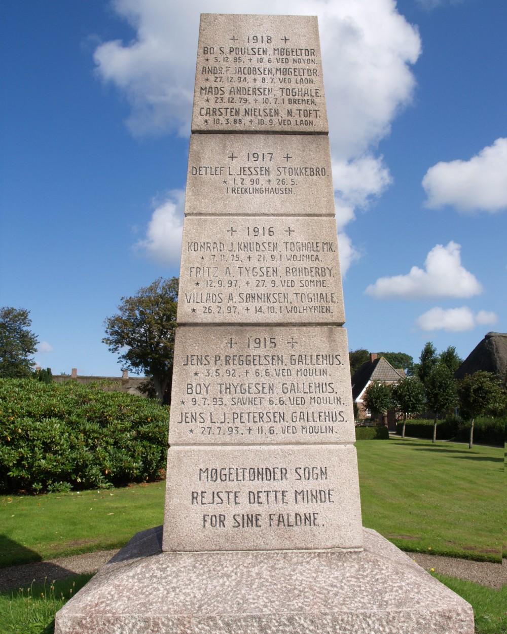 Mindesten, Møgeltønder Kirkegård