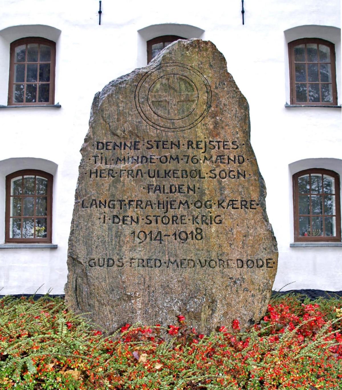 Mindesten, Ulkebøl Kirkegård