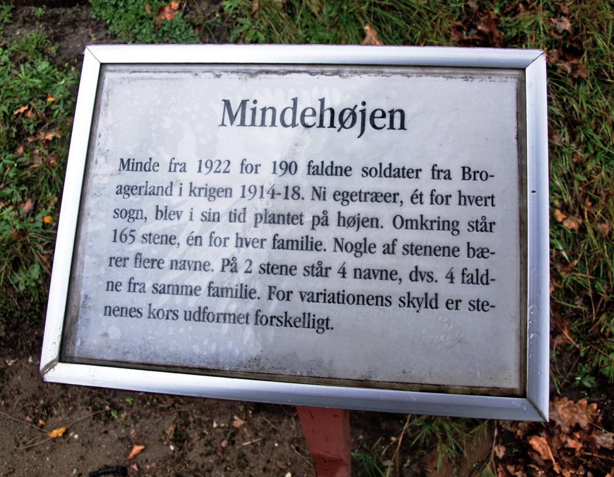 Plade ved mindehøjen, Broager Kirkegård