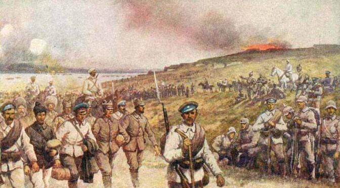 """7. november 1916. """"Blodet strømmede ud, saa at alt mit Tøj var gennemblødt …"""" Rumænerne angriber! K. Tastesen såret af bajonetstik!"""