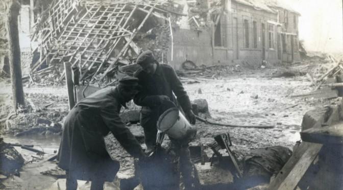 22. december 1916. Med materiel til skyttegravene