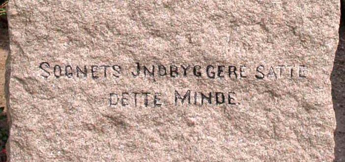 Detalje af mindesten, Frørup Kirkegård