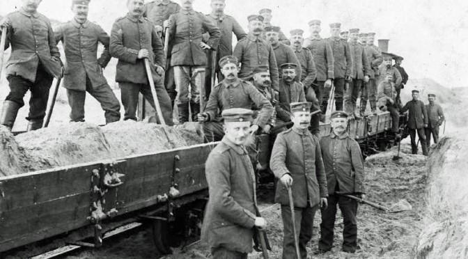 3. august 1917. Desertøren Claus Clausen på fæstningsarbejde