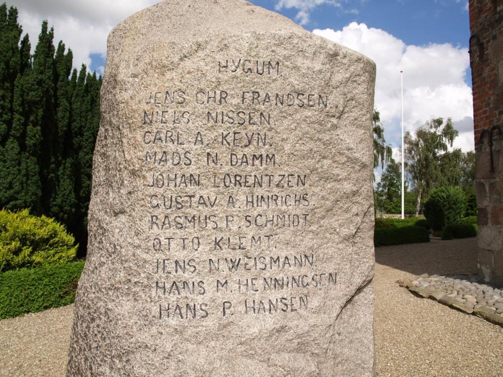 Mindesten, Sønder Hygum Kirkegård