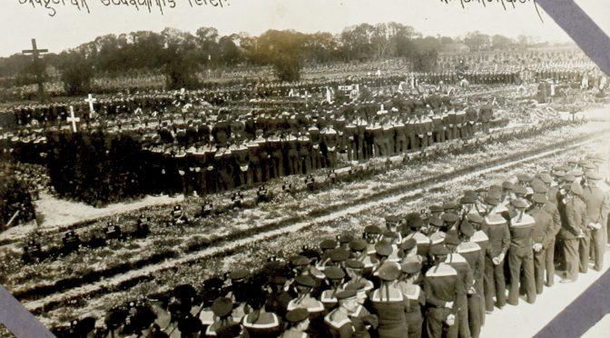 """5. juni 1917 – Skageraksfest: """"Forenede med feltgraa og Blaatrøjer til sejrsglad Skagerakfest"""""""