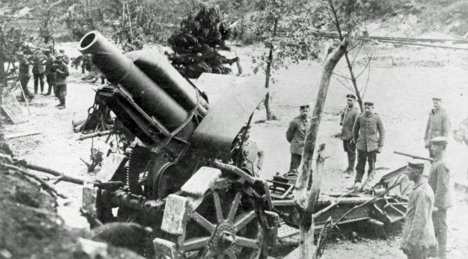 27. august 1917. Ved Ypres: Skudkadence: 150 granater à 50 kilo i timen