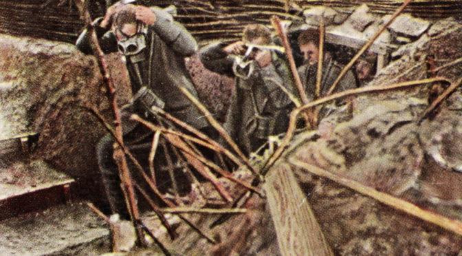 1. april 1918. Forbyttede gasmasker!