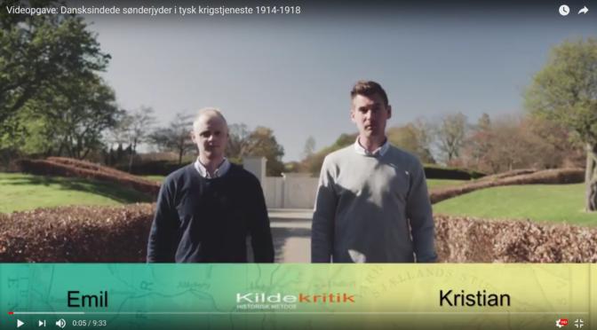 Video: Dansksindede sønderjyder i Første Verdenskrig. Eksamensvideo i historisk metode