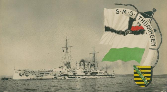 31. oktober 1918. Mytteristerne på SMS Thüringen anholdes og føres bort