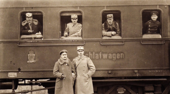 12. november 1917 – Danske officerer på vestfronttur: Til frokost hos Hindenburg