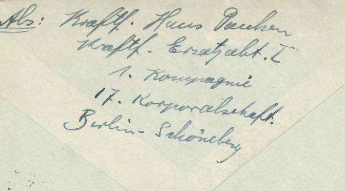 """20. januar 1918 – Hans Paulsen: """"… at købe nogle Levnedsmidler under Haanden"""""""