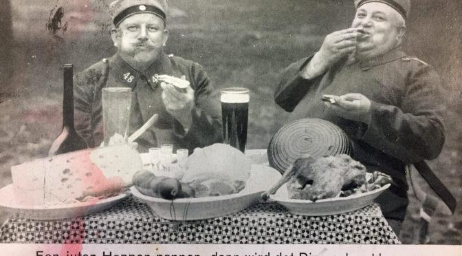 6. juli 1918. Køkkenofficer vil sende en flæskesteg hjem til konen – men sådan narrer man ikke Claus Juhl!
