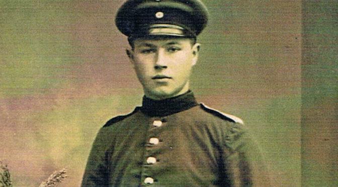 """19. september 1918. Endelig hjemme på orlov: """"Om aftenen talte vi alle om at gå over grænsen til Danmark."""""""
