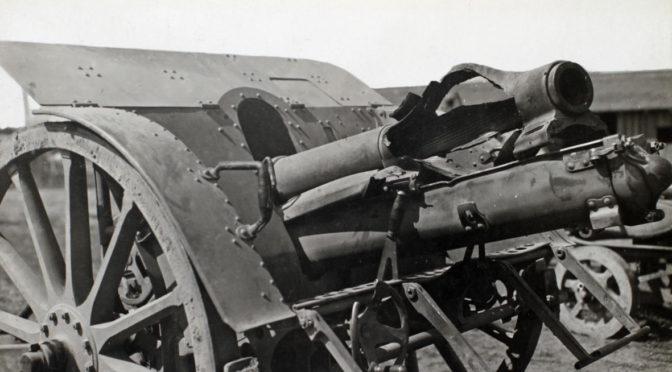 11. januar 1918. Artillerist med Robin Hood-skud
