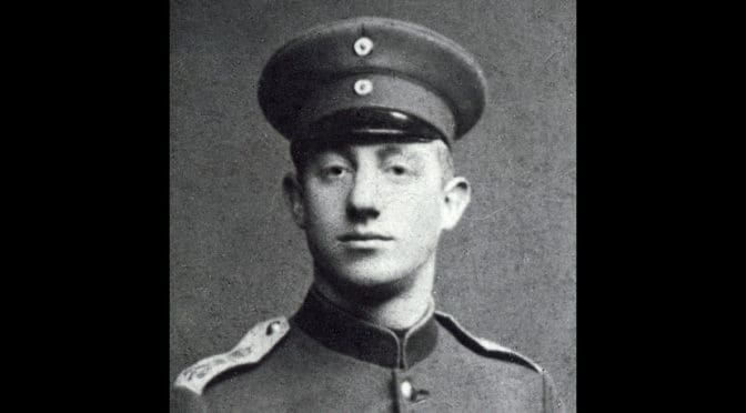 8. juli 1918. K. Tastesen: Hilsener fra en engelsk flyver