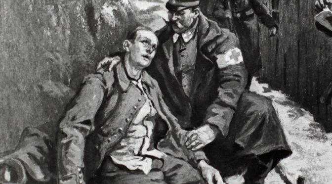 24. august 1918. Niels Ebbesen Kloppenborg-Skrumsager forhindrer sin kammerat i at skyde sig selv