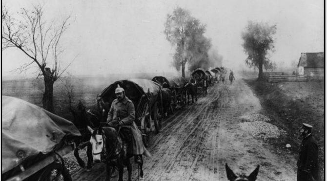 11. december 1918. Asmus Jensen på march fra Rumænien