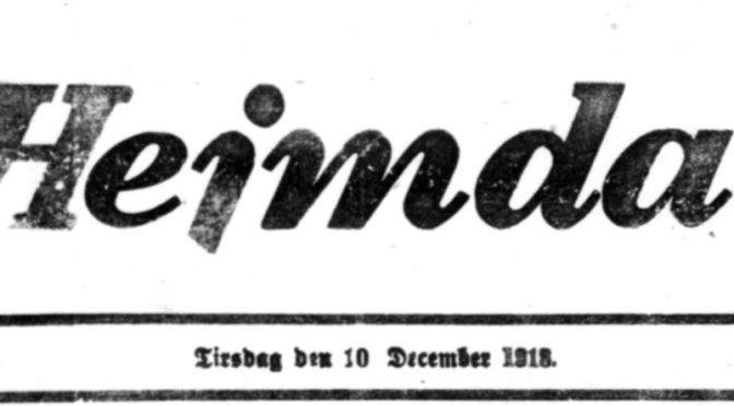 """27. august 1921: """"Statsborgerforholdet bør nu bringes i Orden"""""""
