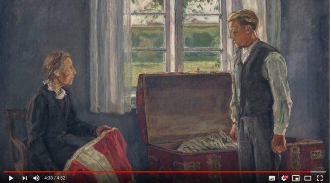 Historiemaleri: Værnepligt eller ej? Motiv fra 1890'ernes Sønderjylland