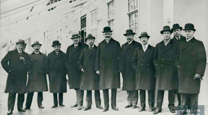 28. februar 1919. Fredsdelegationen om bord på S/S Fionia