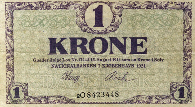 30. januar 1920. Inflation: Ti mark koster nu én krone