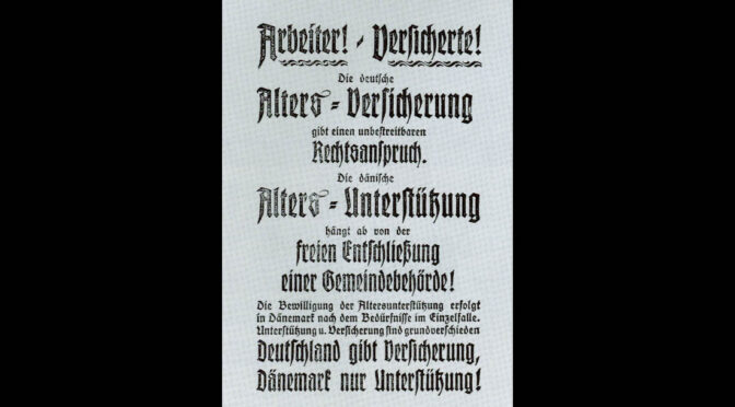 Tysk løbeseddel: Aldersforsorgen er bedre i Tyskland end i Danmark