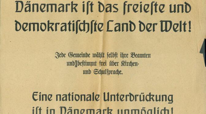 Dansk løbeseddel: Undertrykkelse af mindretal umulig i det frie Danmark!