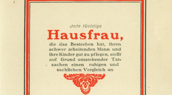 2. marts 1920. Dansk brochure: Købekraften langt større i Danmark