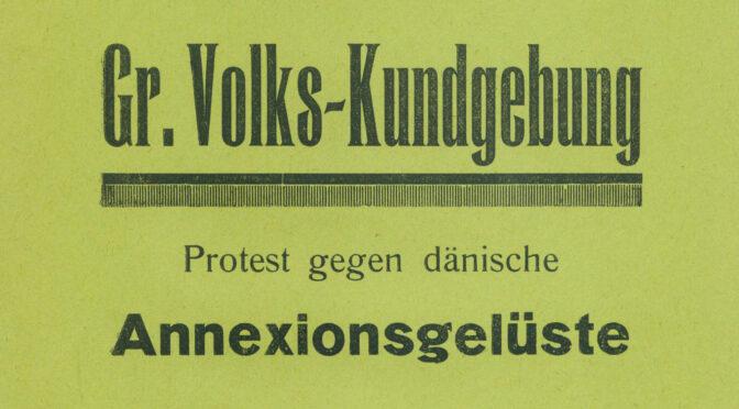 18. december 1919. Stort protestmøde mod danske anneksionslyster