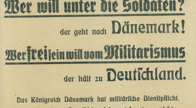 Hvis du vil være fri for militarisme, så stem tysk!