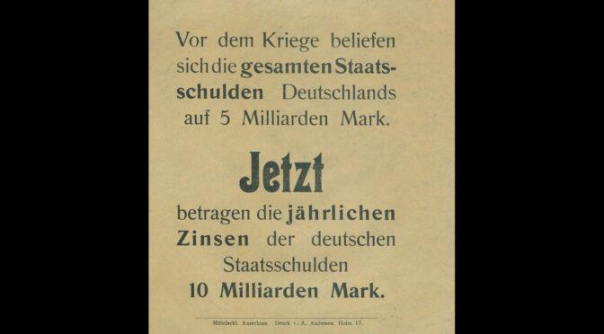 Dansk løbeseddel: Renterne på den tyske statsgæld er fordoblet til 10 milliarder mark!