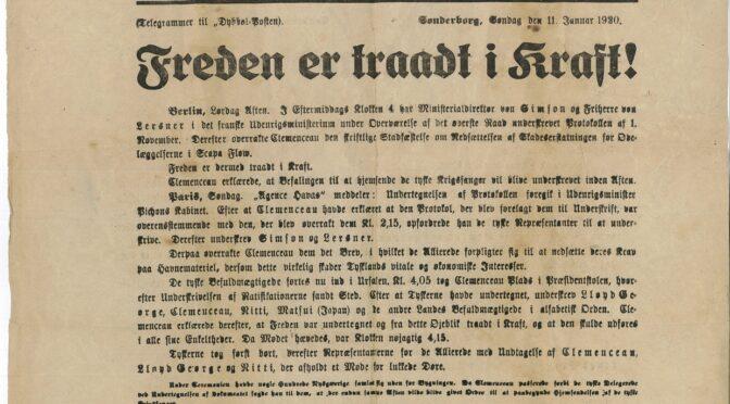 Dybbøl-Posten: Freden er traadt i Kraft!