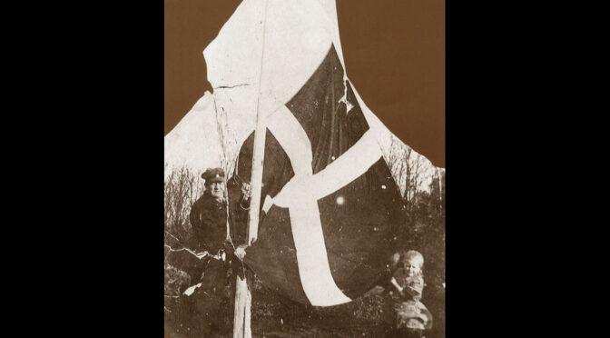 """10. februar 1920. """"Flaget smældede og mine tanker var mange."""""""