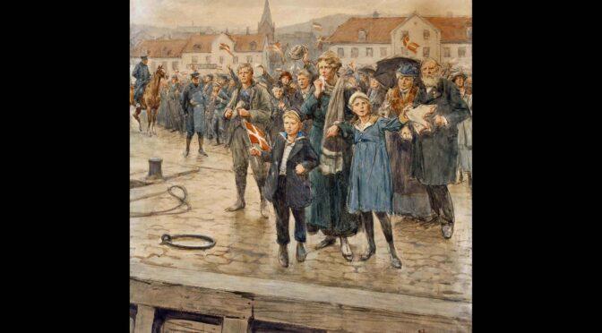 De, der blev tilbage. Erik Henningsens akvarel, dateret Flensborg 15. marts 1920.
