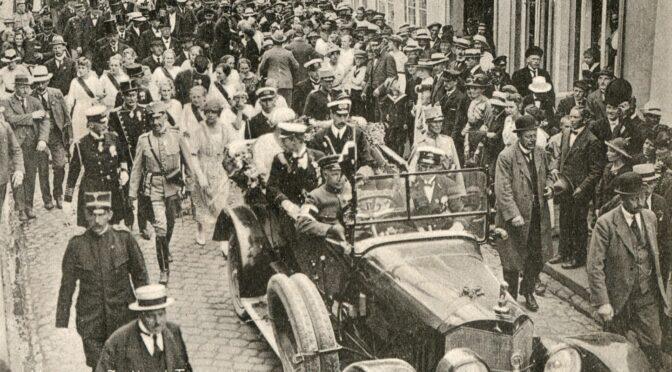 12. juli 1920. Trods dødstrusler: Kongen festligt modtaget i Tønder!
