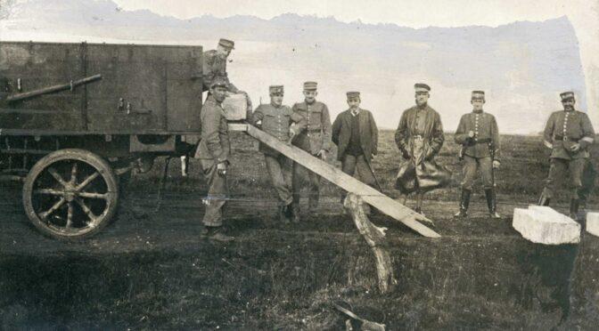 15. august 1920. Den nye grænse afmærkes i terrænet