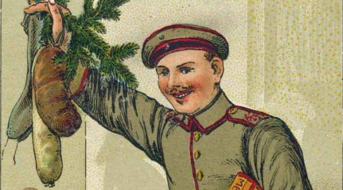 1. december 2020. Julekort fra Første Verdenskrig