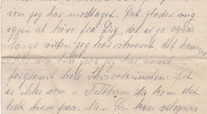 Julebrev 20. december 1920