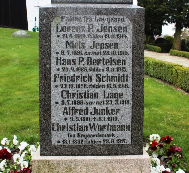 Detalje af mindesten, Kværs Kirkegård